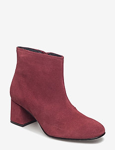 SUEDE ANKLE BOOT - talon haut - red plum