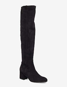 SUEDE BOOT - lange laarzen - 01 black