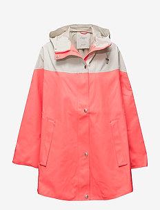 RAIN PONCHO - płaszcze przeciwdeszczowe - neon coral/milk creme