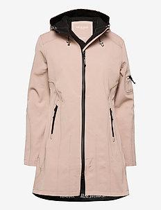 HIP-LENGTH SOFTSHELL RAINCOAT - vêtements de pluie - adobe rose