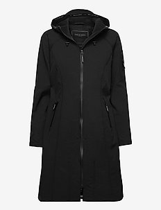 LONG RAINCOAT - regenkleding - black
