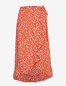 SKIRT - red orange