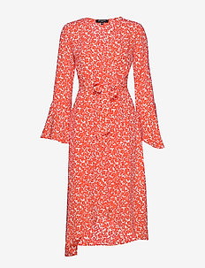 DRESS - RED ORANGE