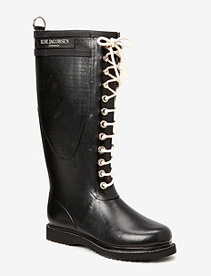 LONG RUBBERBOOT - regenlaarzen - black