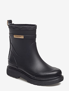 SHORT RUBBER BOOTS - BLACK
