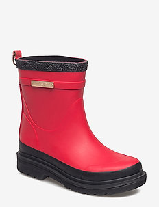 SHORT RUBBER BOOTS - DEEP RED