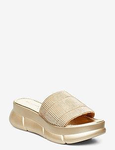 SLIP-ON SANDALS - sandales - platin