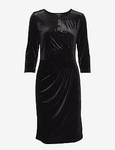 DRESS - midi-kleider - black