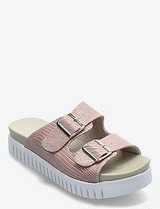 Sandals - płaskie sandały - soft coral