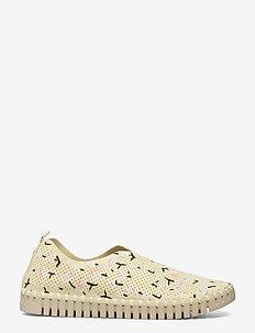 Flats - slipper - flan yellow