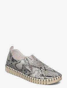 Flats - slip-on sneakers - black