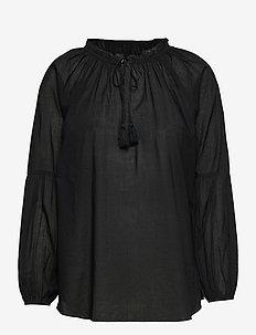 Blouse - langärmlige blusen - black