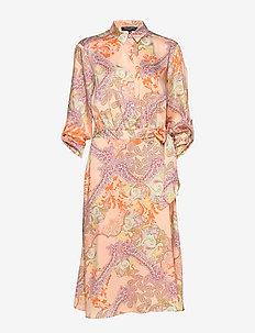 DRESS - coral blush