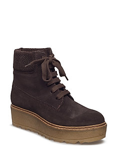 SUEDE ANKLE BOOT - 200 BROWN