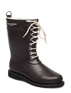 RAIN BOOT - MID CALF, CLASSIC WITH LACES - BROWN