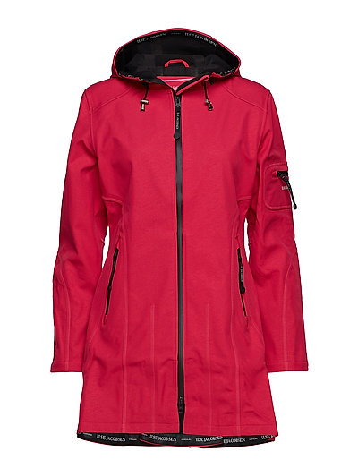 HIP-LENGTH SOFTSHELL RAINCOAT - WARM PINK