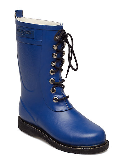RAIN BOOT - MID CALF, CLASSIC WITH LACES - TRUE BLUE