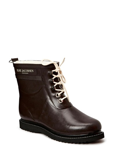 RAIN BOOT - ANKLE, CLASSIC WITH LACES - BROWN