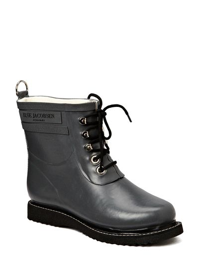 RAIN BOOT - ANKLE, CLASSIC WITH LACES - GREY