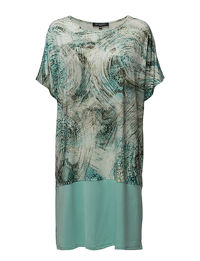 WOMENS LOOSEFIT ANIMAL DRESS - AQUA HAZE