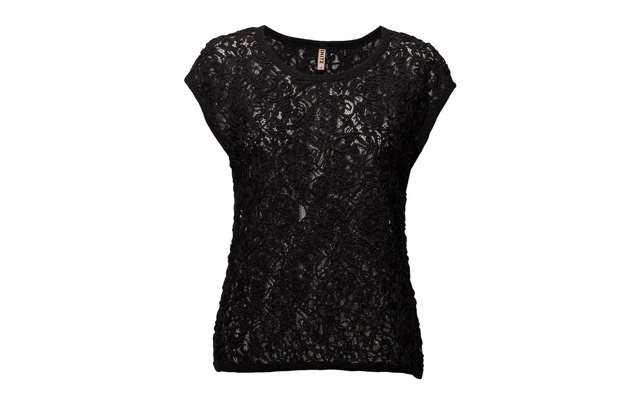 Polyester 100 Imitz Black Blouse woven naBPwBq8F