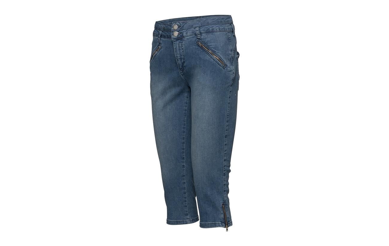 98 denim Coton Elastane Pants 2 Capri Imitz Sky Équipement Blue Denim WHA08Evqw