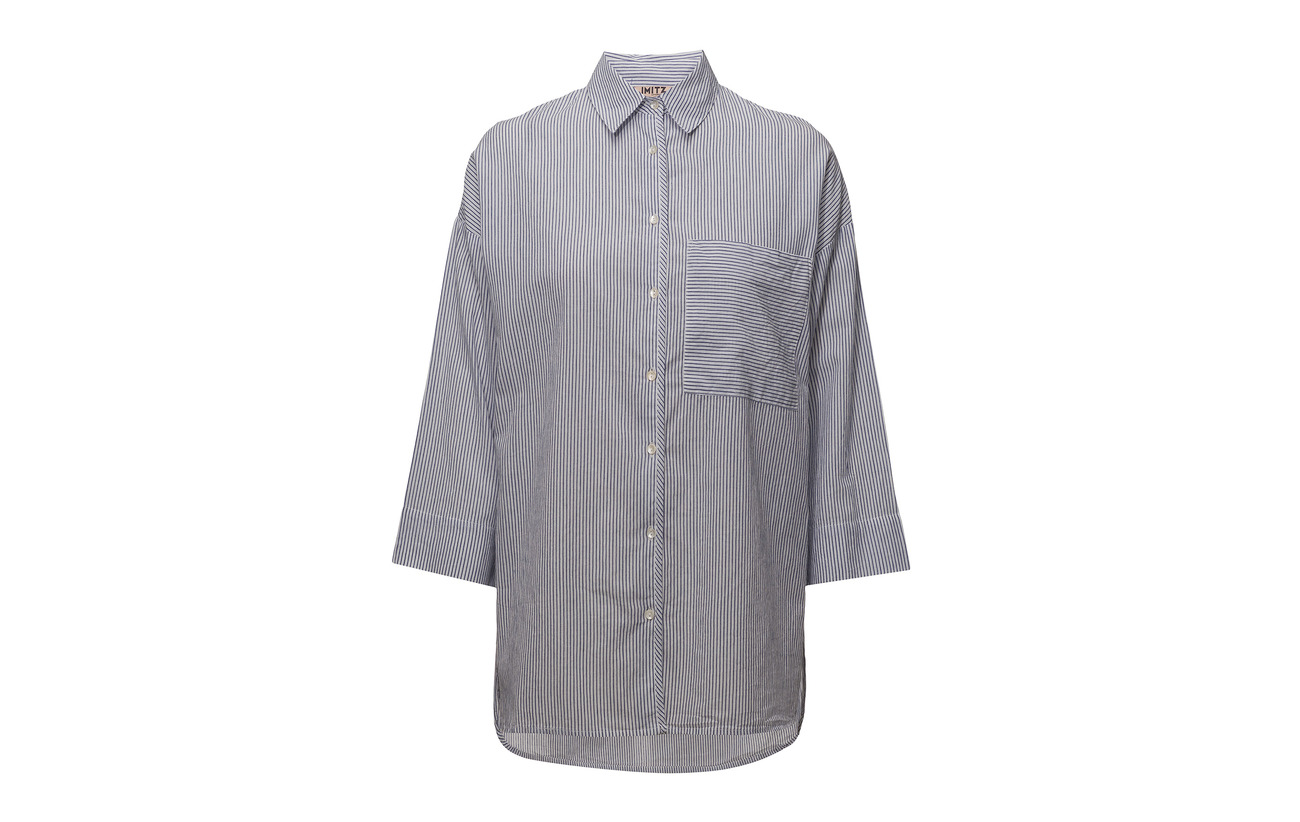 Shirt Coton Mix Woven Blue Twilight Imitz 100 s L R8dZWYHq7