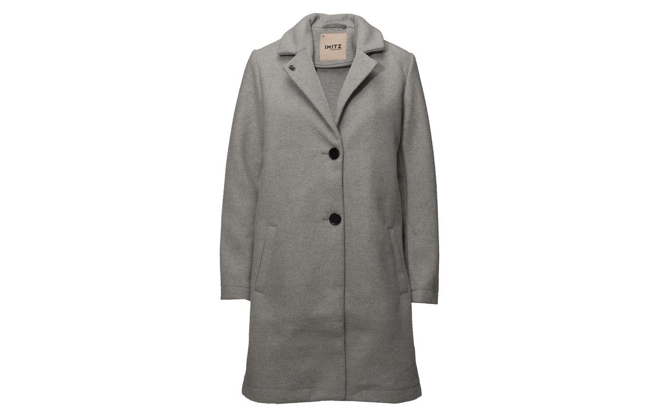 Coat Mix 50 Imitz Laine Polyester Heavy Dove Outerwear T116xd7q