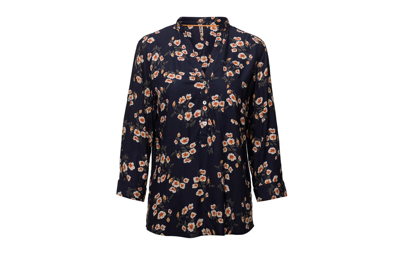 Shirt French L Navy Viscose Imitz 100 Mix s Woven np4nUT