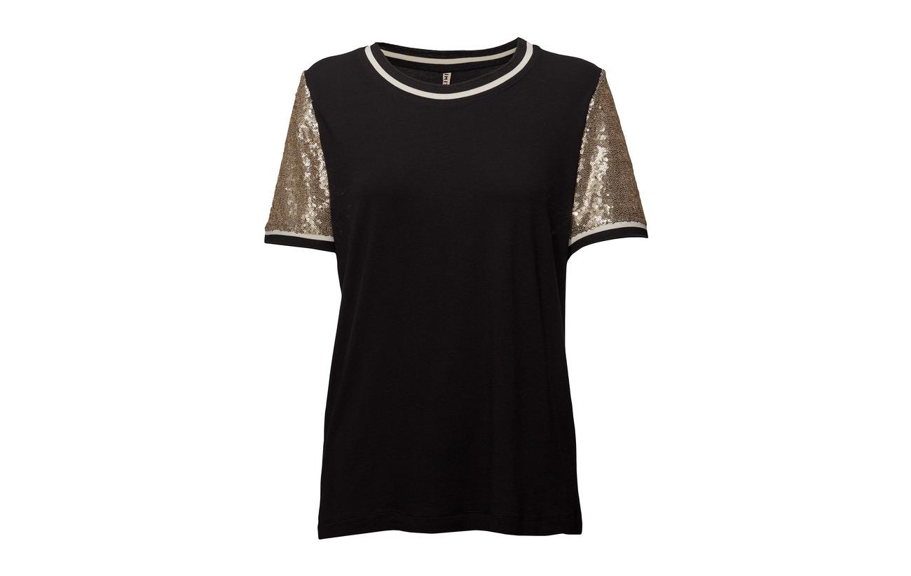 Black Polyester Imitz 65 knitted Viscose Blouse 35 awTq7F