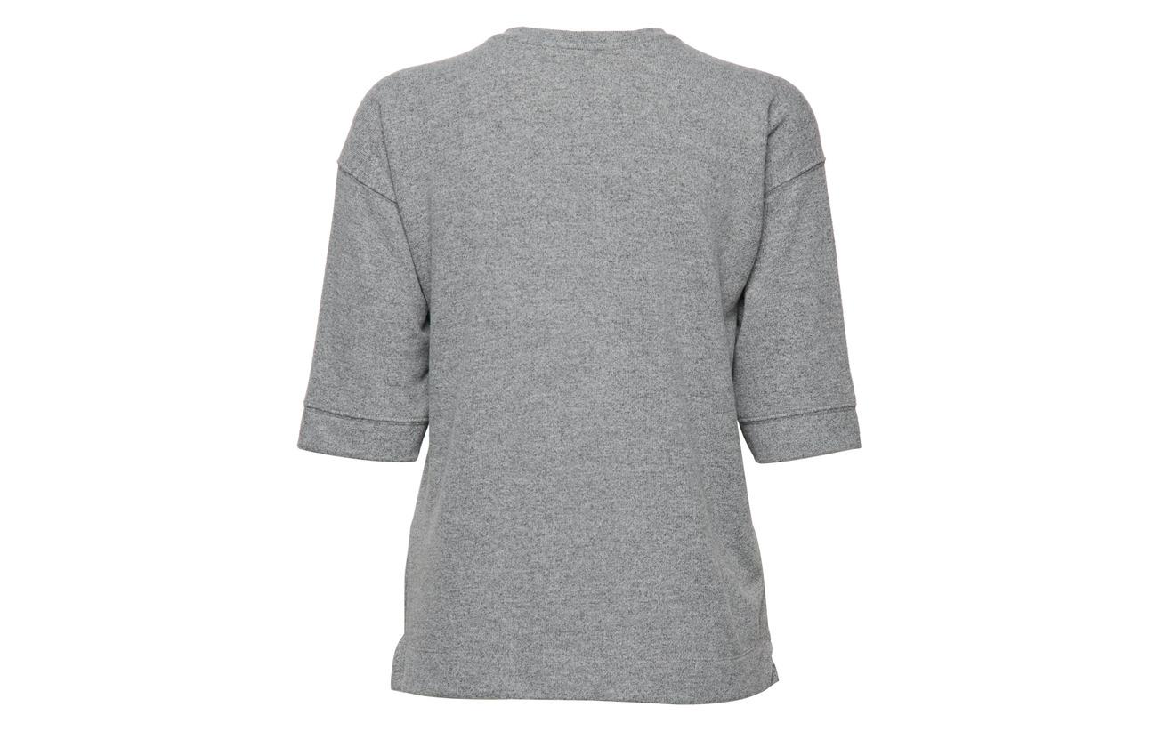 Elastane 3 12 Blouse Polyester Black Viscose 85 Imitz knitted nPAZFFH