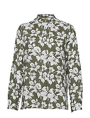 Shirt l/s Woven - ARMY LEAF MIX