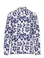 Shirt l/s Woven - WHITE / BLUE MIX