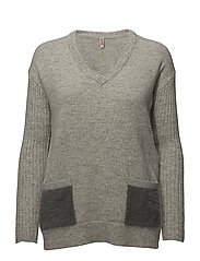 Pullover-knit Heavy - LIGHT GREY MELANGE