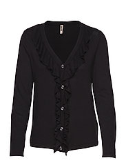 Cardigan-knit Heavy - BLACK