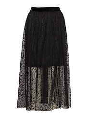 Skirt-light woven - BLACK
