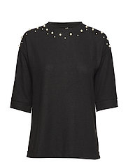 Blouse-knitted - BLACK