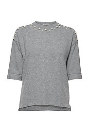 Blouse-knitted - LIGHT GREY MELANGE