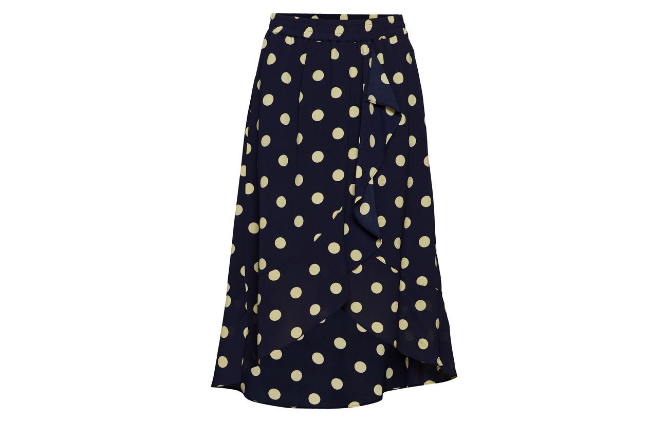 Équipement Intérieure 95 Skirt Polyester Inwear Elastane Polyester 100 Dot Polka Lw Valeria Marine Lemon Doublure Light 5 pOxOqzT7w