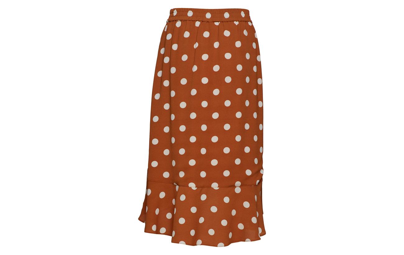 95 100 Intérieure Roasted Inwear Équipement Dot Polyester Polka Elastane Skirt 5 Valeria Polyester Doublure Lw Pecan 1zn8B7zq