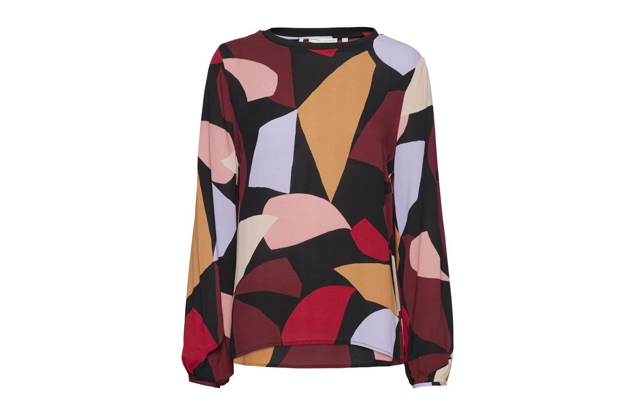 Blouse Vexi French 100 Inwear Viscose Nougat Collage q0vOt6w