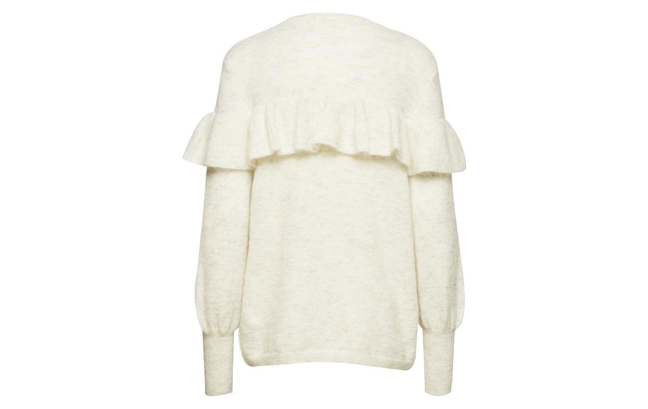 Laine New Mohair Inwear Ruffle 34 Pullover Melange Grey Polyamide 5 Elastane Finula Knit 27 Light pIqvp
