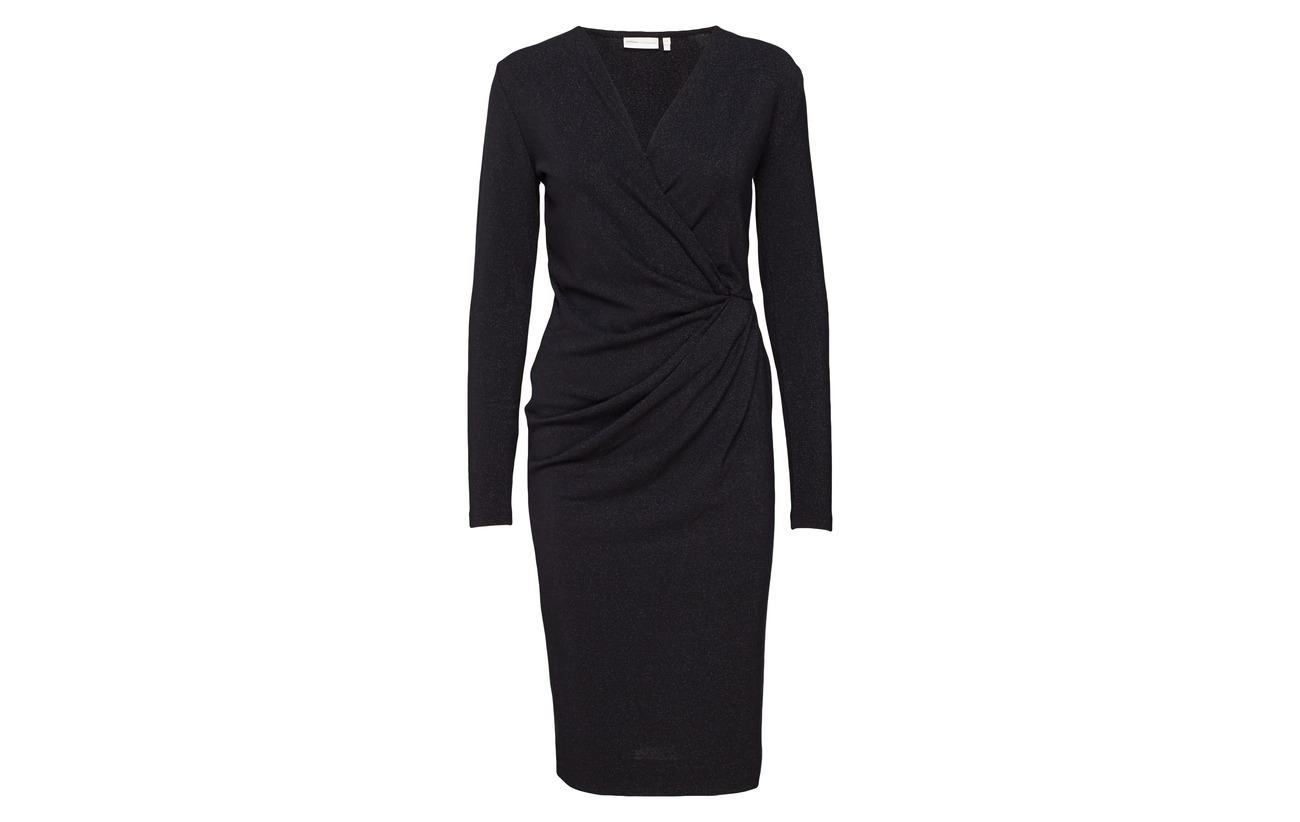 Viscose Dress Lurex 5 Black Polyester Vic Inwear 39 56 6IBxfnvSwq