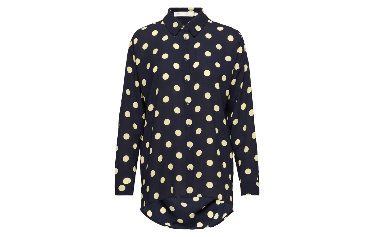 Polyester Hattie Zibi Dot Inwear Elastane 95 5 Shirt Polka Pecan Roasted 41SqA