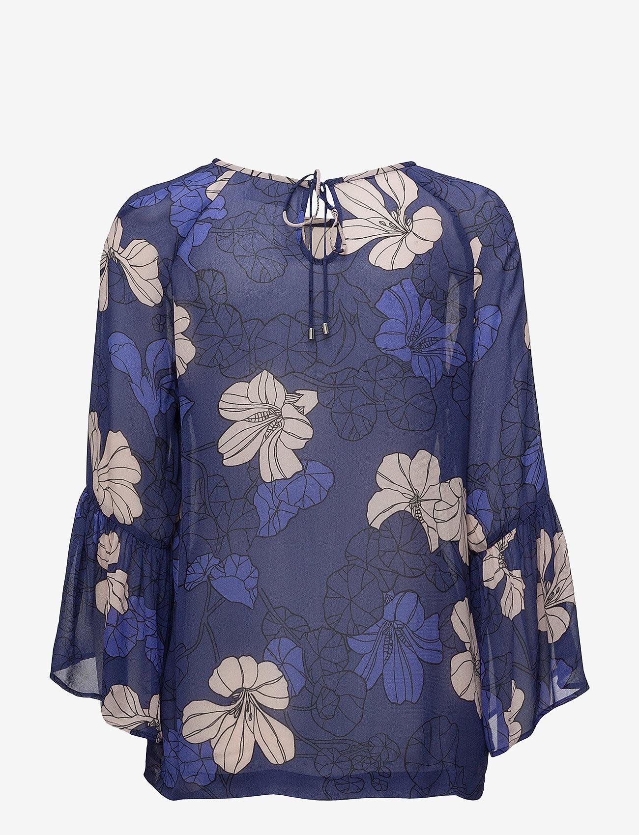 Begonia Blouse Lw (Spring Flowers Orient Blue) - InWear UFKDKC