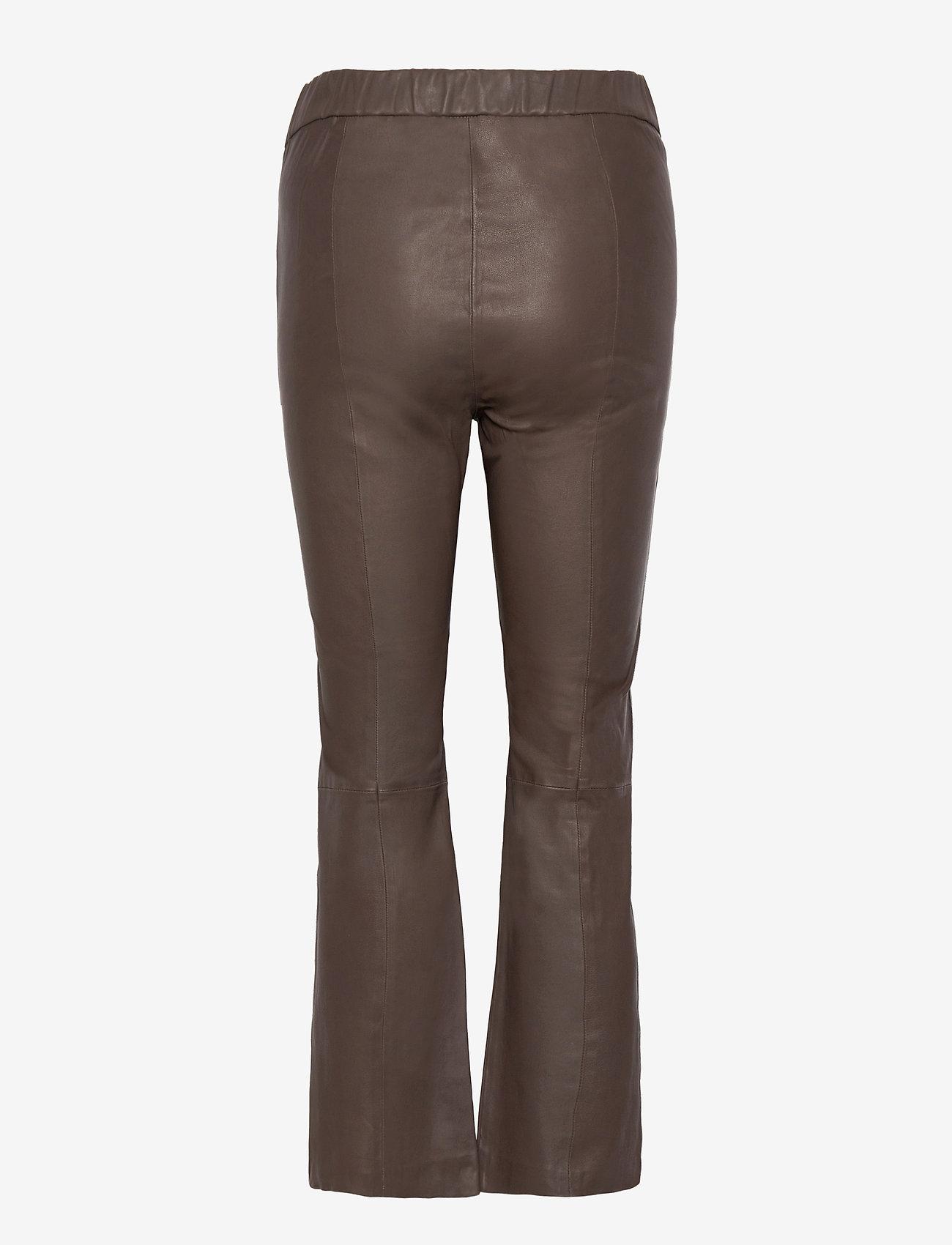 InWear - Cedar Pant - læderbukser - sandy grey - 1