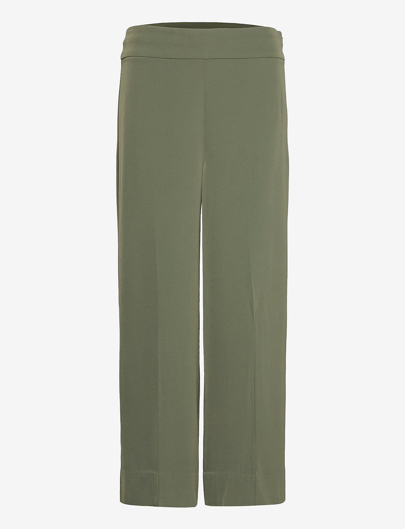 InWear - Zhen Culotte Pant - bukser med brede ben - beetle green - 0