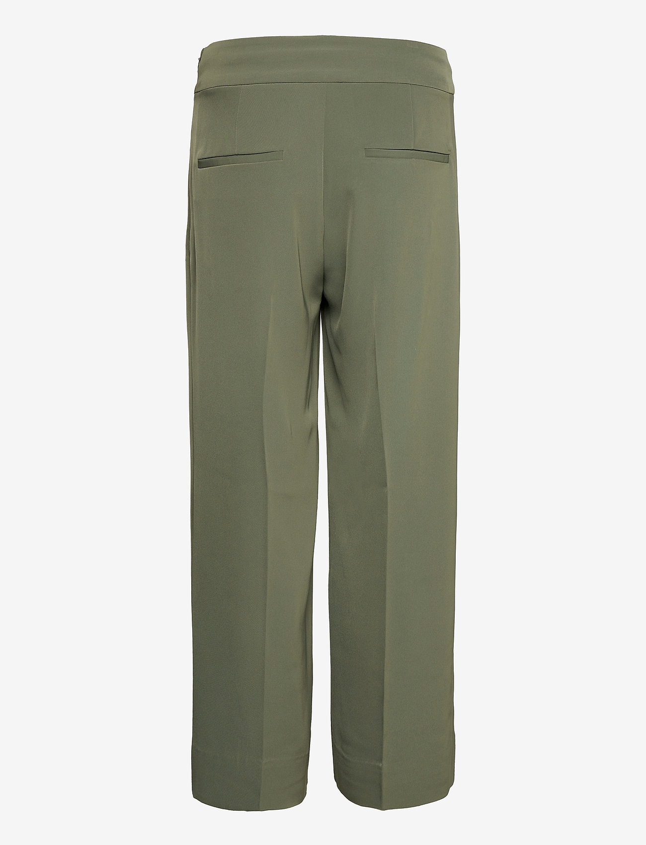 InWear - Zhen Culotte Pant - bukser med brede ben - beetle green - 1