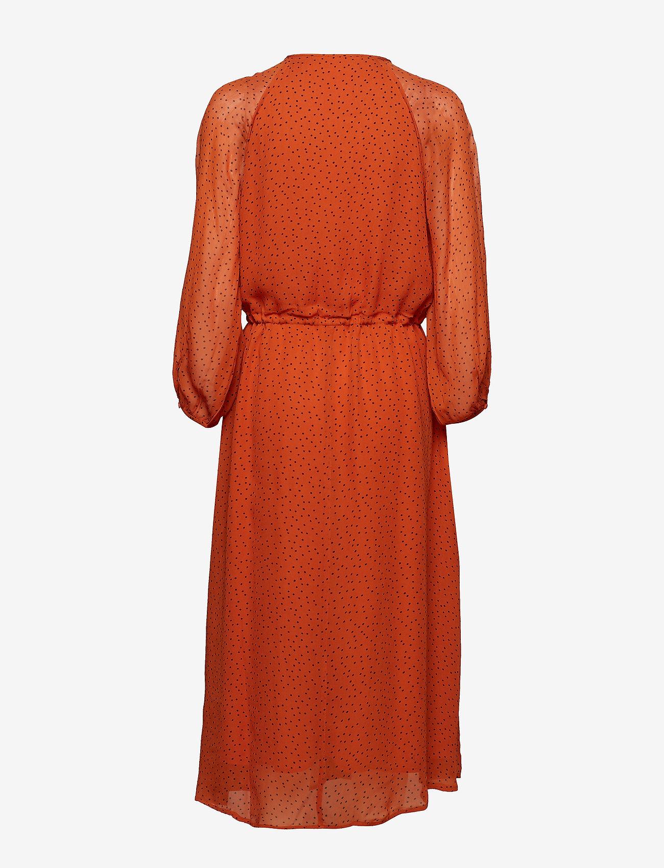 InWear Saga Long Dress - Sukienki GOLD FLAME DOT - Kobiety Odzież.