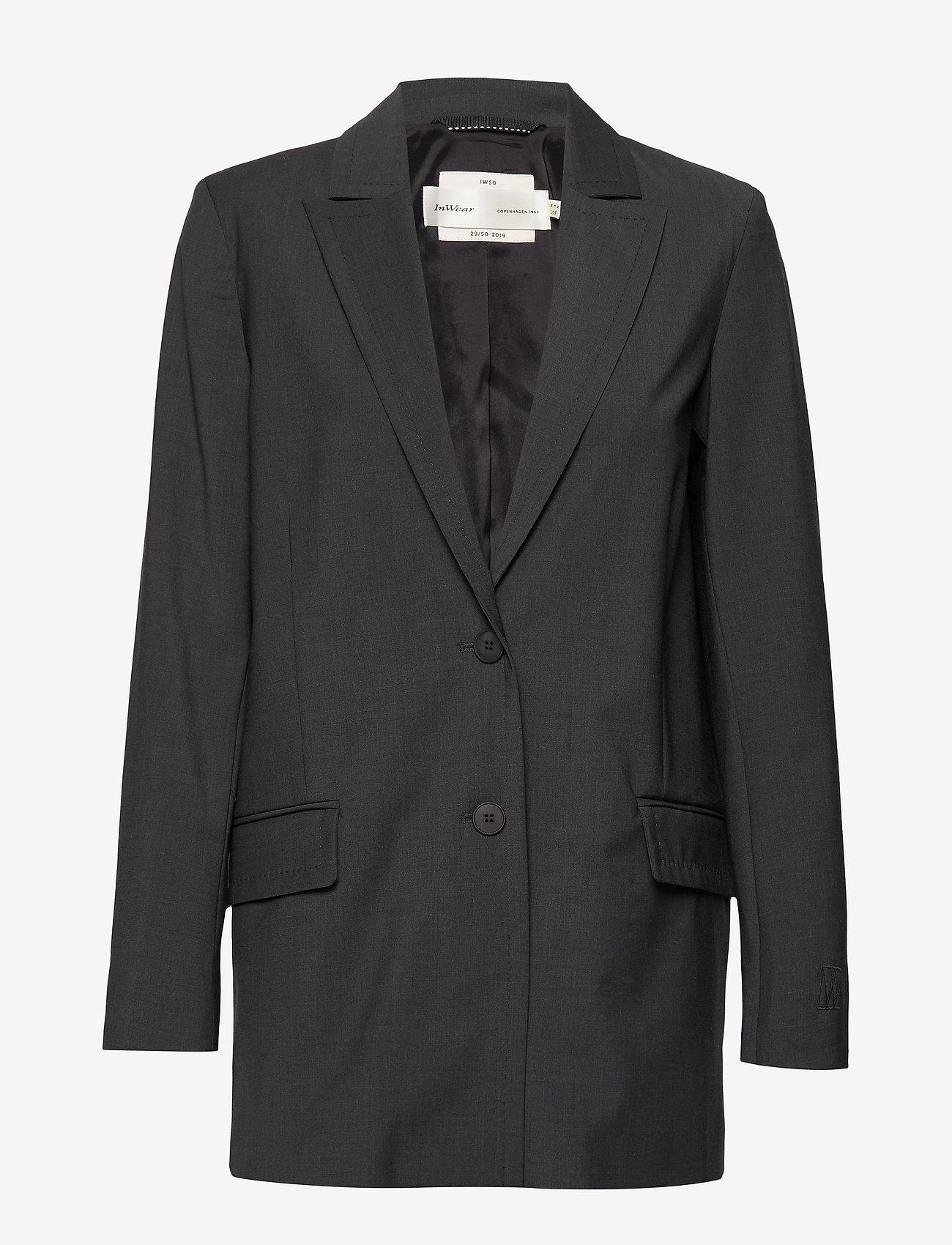 Iw50 29 Carolyniw Blazer (Dark Grey Melange) - InWear O8xJ3b